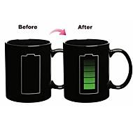 1 stück 300 ml magische batterie discolour farbe keramik becher drink