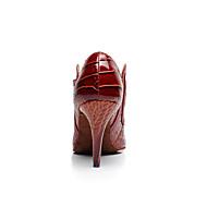 baratos Sapatilhas de Dança-Mulheres Sapatos de Dança Latina / Sapatos de Salsa Courino Sandália Presilha Salto Carretel Não Personalizável Sapatos de Dança Mogno /