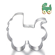 Baby Carriage Stroller Shape Cookie Cutters Fruit Cut Molds Stainless Steel