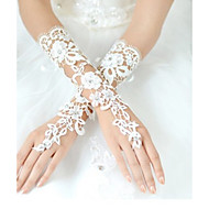 cheap Wedding Gloves-Lace Polyester Wrist Length Glove Classical Bridal Gloves Party/ Evening Gloves With Solid