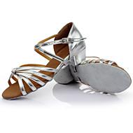 billige Sambasko-Dame Sko til latindans / Ballet Silke / Læder Sandaler Indendørs / Professionel / Begynder Spænde / Rosette Kraftige Hæle Kan tilpasses