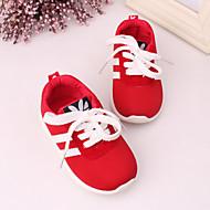 Para Meninos Para Meninas Bebê Tênis Conforto Tule Tecido Primavera Verão Outono Casual Conforto Presilha Combinação Preto Vermelho Azul