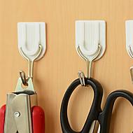 billige Lagring og oppbevaring-sett av 6 selvklebende hvit vegg hengeren klissete døren kroker hjem hjelpemiddel