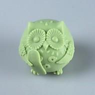 a coruja, sabão animais fondant molde bolo de chocolate silicone, ferramentas de decoração bakeware
