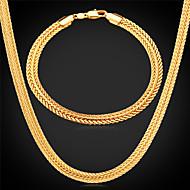 チャンクー ジュエリーセット - ゴールドメッキ 含める シルバー / ローズ / ゴールデン 用途 結婚式 / パーティー / 日常 / ネックレス / ブレスレット
