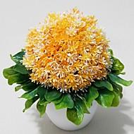 Gren Plastikk Hortensiaer Planter Bordblomst Kunstige blomster 4.5*5.5