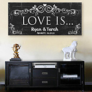 E-HOME® Personalized Signature Canvas Frame- Love Is Wedding Ceremony