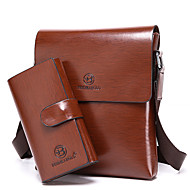 Men Bags Cowhide Shoulder Bag for Casual Formal Outdoor Office & Career All Seasons Brown Khaki