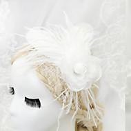 成人用 フラワーガール 羽毛 シフォン かぶと-結婚式 パーティー ヘッドドレス 1個