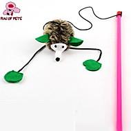 Игрушка для котов Игрушки для животных Дразнилки Игрушка с перьями Ёж Для домашних животных