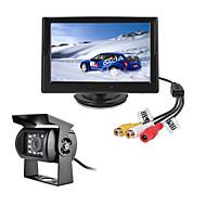 billiga Parkeringskamera för bil-renepai® 5 tums HD-skärm + buss 170 ° hd bil backkamera vattentät kamera kabellängd 6m, 10m, 16m, 20m,