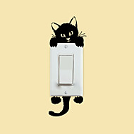 muurstickers muur stickers stijl kitten switch pvc muurstickers