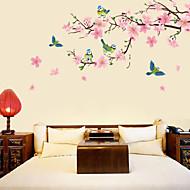 halpa -Kasvitieteellinen Kukkakuviot Wall Tarrat Lentokone-seinätarrat Koriste-seinätarrat,Vinyyli materiaali Irroitettava Kodinsisustus