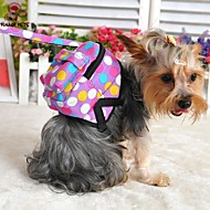 Dog Backpack Cute and Cuddly Polka Dots Fabric