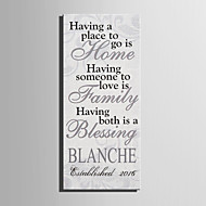 E-HOME® Personalized Signature Canvas invisible Frame Print-Home Family Blessing