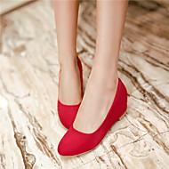 baratos Sapatos de Tamanho Pequeno-Mulheres Sapatos Courino Primavera / Verão / Outono Salto Robusto Bege / Vermelho / Azul