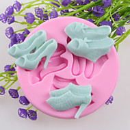 Three Pairs Of High Heels Fondant Cake Chocolate Silicone Molds,Decoration Tools Bakeware