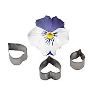 baratos Utensílios para Biscoitos-Four-C ferramentas moldes de cozimento molde ofício açúcar cortador de aço inoxidável flor do coração fondant queque bolinho de decoração