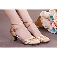 billige Moderne sko-Dame Moderne Ballett Kunstlær Lakklær Sateng Syntetisk Høye hæler Sandaler Innendørs Profesjonell Nybegynner Trening Spenne Sløyfe Pels