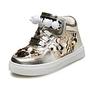 baratos Sapatos de Bebês-Para Meninas Para Meninos sapatos Courino Primavera Outono MaryJane Conforto Tênis Miçangas Pérolas Lantejoulas Gliter com Brilho Cadarço