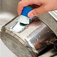 baratos Acessórios de Limpeza de Cozinha-Cozinha Produtos de limpeza Plástico Escova e Pano de Limpeza Ferramentas 2pcs
