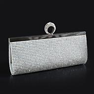 baratos Clutches & Bolsas de Noite-Mulheres Bolsas Poliéster Bolsa de Festa Cristal / Strass Sólido Dourado / Preto / Prata