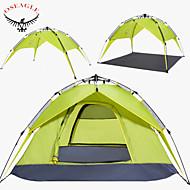 voordelige Kamperen&Wandelen-OSEAGLE 4 personen Backpackingtenten Dubbel Gelaagd Automatisch Dome Kampeer tent Buiten waterdicht, Regenbestendig, VochtBestendig voor Jagen / Vissen / Wandelen >3000 mm Nylon, Oxford / Winddicht