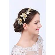 abordables Tiaras boda/novia-Oro Legierung Diademas 1 Boda Ocasión especial Casual Celada