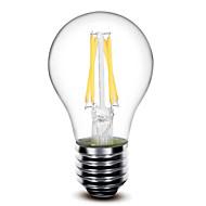 お買い得  LED電球-1個 400 lm E26/E27 フィラメントタイプLED電球 G60 4 LEDの COB 調光可能 温白色 AC 110〜130V AC 220-240V