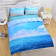 preiswerte Bettbezüge-Bettbezug-Sets 3D 3 Stück Polyester / Baumwolle Reaktivdruck Polyester / Baumwolle 3-teilig (1 Bettbezug, 2 Kissenbezüge)