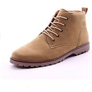 olcso -Férfi cipő Bőrutánzat Tél Tavasz Ősz Kényelmes Csizmák Gyalogló Bokacsizmák Fűző Kompatibilitás Hétköznapi Fekete Zöld Khakizöld