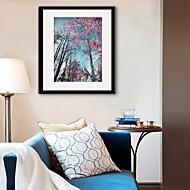 billige Innrammet kunst-Botanisk Landskap fritid Innrammet Lerret Innrammet Sett Veggkunst,PVC Materiale med ramme For Hjem Dekor Rammekunst Stue Kjøkken