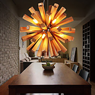 Pendant Lights LED / Bulb Included Country Living Room / Bedroom / Dining Room / Study Room/Office Wood/Bamboo