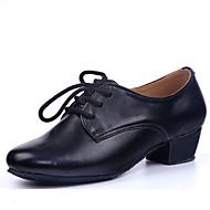 billige Moderne sko-Sko til latindans Kunstlær Høye hæler Snøring Tykk hæl Kan ikke spesialtilpasses Dansesko Svart / Innendørs