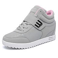 Damen-Sneaker-Outddor Büro Lässig-Kunstleder-Keilabsatz Creepers-Komfort-Schwarz Rot Grau