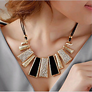Women's Bib Choker Necklace Statement Necklace stardust Statement Ladies Italian Chunky Gold White Necklace Jewelry For Party