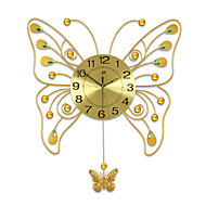 billige Veggklokker-Nyhet Moderne / Nutidig Wall Clock , Dyr / Naturskjønn / Bryllup / Familie Glass / Metall 66cm x 58cm( 26in x 23in )