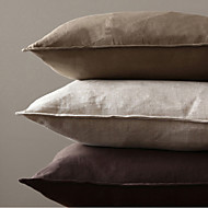 cheap Cushion Sets-1 pcs Linen Pillow With Insert, Solid Casual Accent/Decorative Country Traditional Traditional/Classic Modern/Contemporary