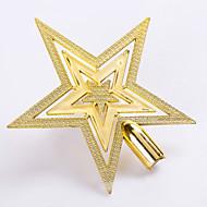 """זול עיצוב-תליון 5pcs / להגדיר 15 ס""""מ / 6 """"קישוטי עץ חג המולד קישוטים חיצוניים כוכב זהב שנה החדשה ספקי צד קישוט"""