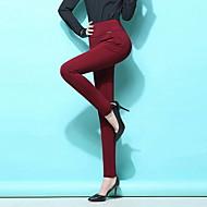 Dame Basale Plusstørrelser Tynde Bukser / Leggins Bukser Ensfarvet / Efterår