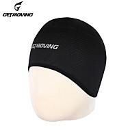 GETMOVING Ciclism Beanie / Hat Cască Căptușeală Caps Skull Pălării Headsweat Negru Iarnă Rezistent la UV Respirabil Uscare rapidă Yoga Camping & Drumeții Taekwondo Bărbați Pentru femei Unisex Mat