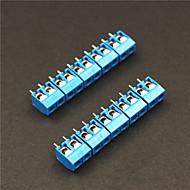 billige -2 pin 5,0 mm rækkeklemmer stik - blå (5-piece)