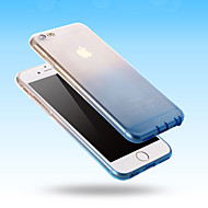 billiga Mobil cases & Skärmskydd-fodral Till Apple iPhone 6 iPhone 6 Plus Ultratunt Genomskinlig Skal Färggradient Mjukt Silikon för iPhone 6s Plus iPhone 6s iPhone 6