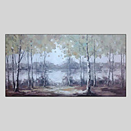 cheap Oil Paintings-Hand-Painted Landscape Horizontal Panoramic, Style Canvas Oil Painting Home Decoration One Panel