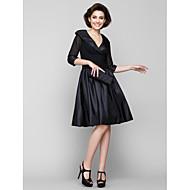A-vonalú V-alakú Térdig érő Sifon / Taft Örömanya ruha val vel Ráncolt által LAN TING BRIDE®