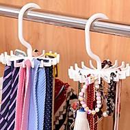 billige Lagring og oppbevaring-Justerbar 20 krok roterende beltestang skjerf arrangør menn slips hanger holder
