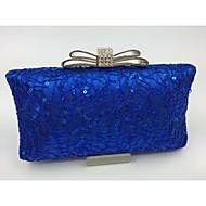 baratos Clutches & Bolsas de Noite-Mulher Bolsas Todas as Estações Outros Tipos de Couro Bolsa de Festa para Formal Dourado Preto Prata Vermelho Azul