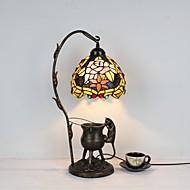 billige Lamper-Tiffany Rustikk/ Hytte Traditionel / Klassisk Flerskjerms Bordlampe Til Metall 110-120V 220-240V