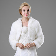 Искусственный мех Свадьба / Вечерние / Повседневные Меховые пальто С Болеро