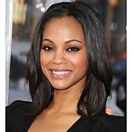 Echt haar Kanten Voorkant Pruik Natuurlijk golvend 130% Dichtheid 100% handgebonden Afro-Amerikaanse pruik Natuurlijke haarlijn Medium